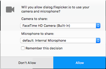 Setting the default camera on your browser – Acclaim Help Center