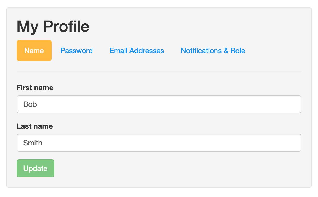 Edit my email address